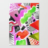 Vibrance Watercolour  Canvas Print