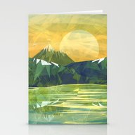 Mountains And Sunset Ove… Stationery Cards