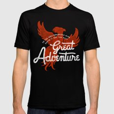 Great Adventure SMALL Black Mens Fitted Tee