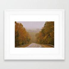 Autumnal Roads Framed Art Print