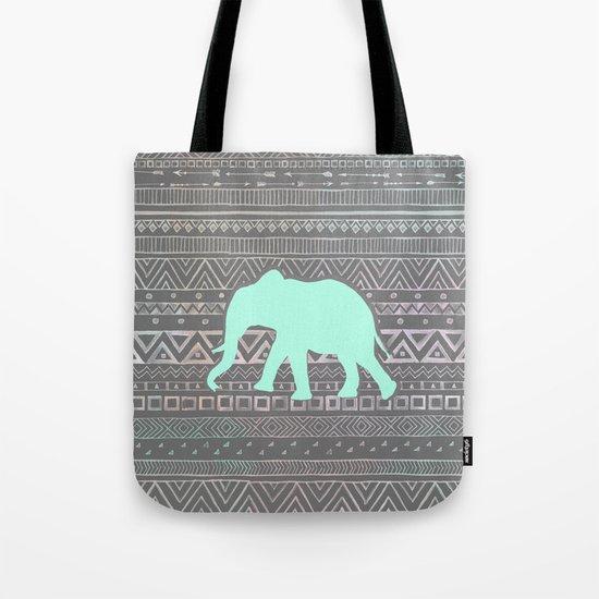 Mint Elephant  Tote Bag