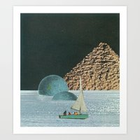 Heaven In A Little Boat Art Print