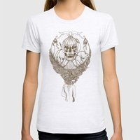 Lady Death // Brown Womens Fitted Tee Ash Grey SMALL