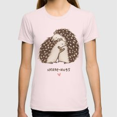 Hedge-hugs Womens Fitted Tee Light Pink SMALL