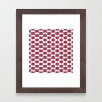 Flowery Red Framed Art Print
