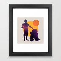 Star Wars BFF Framed Art Print