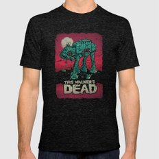 Walker's Dead V2 Mens Fitted Tee Tri-Black SMALL