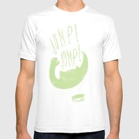 JUMP! JUMP! Mens Fitted Tee White SMALL