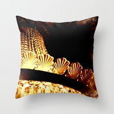 vintage chandelier Throw Pillow