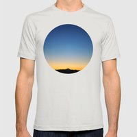 sunset Mens Fitted Tee Silver SMALL