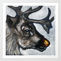 Rudolph, The Red-Nosed R… Art Print