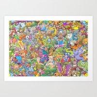 Creatures festival Art Print