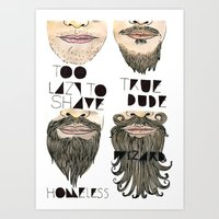 the beard chart of dudeliness Art Print