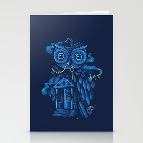 Guardian of the Night Stationery Card