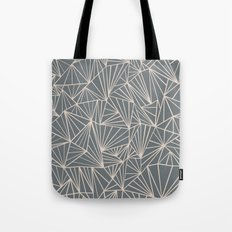 Ab Fan Grey And Nude Tote Bag