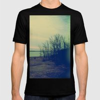 Water Color Memories Mens Fitted Tee Black SMALL