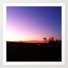 Windmill vs Sunset Art Print