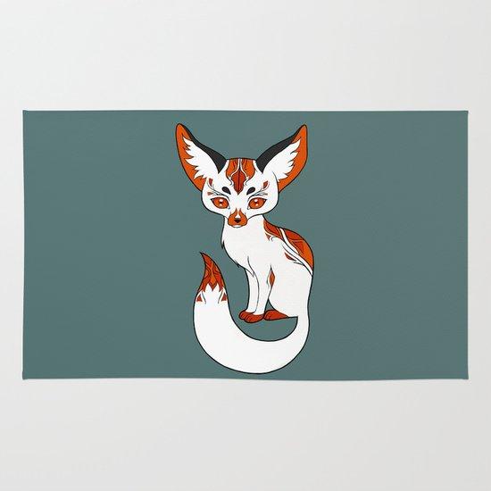 Mysterious Fox Area & Throw Rug