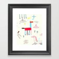 MerryGoRound Framed Art Print