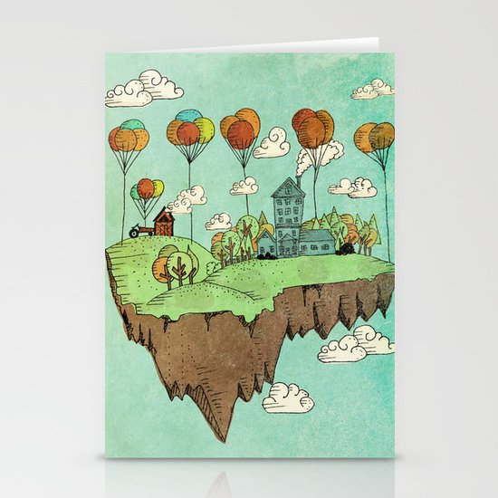 The Floating Farm Stationery Card