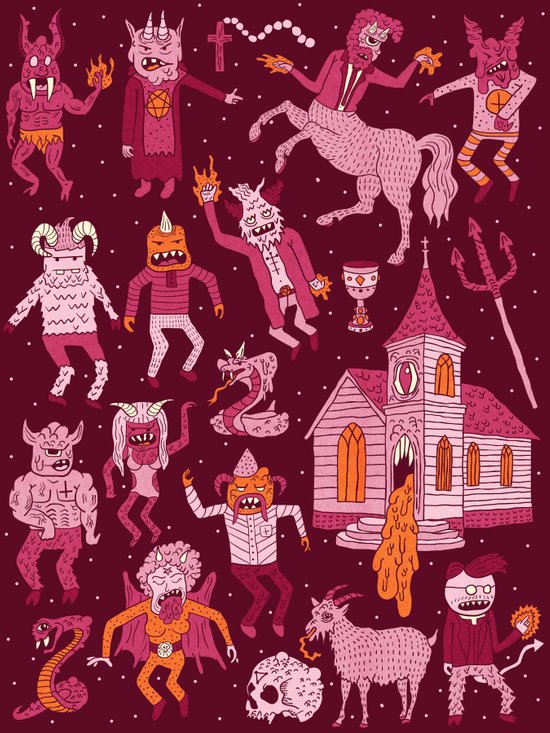 Wow! Demons!  Art Print