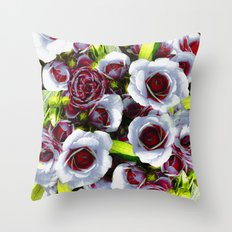 A wedding day Throw Pillow