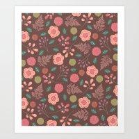 Boho Floral Mix Art Print