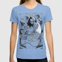 Holy Mother Of HipHop Bl… Womens Fitted Tee Tri-Blue SMALL