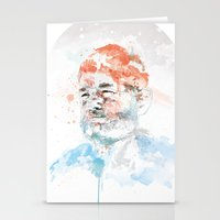 bill murray Stationery Cards featuring Bill Murray by I AM DIMITRI