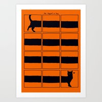 The Longcat Is Long Art Print