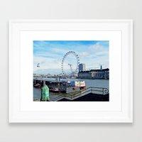 London Eye View Framed Art Print