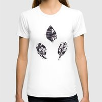 Leaves Womens Fitted Tee White SMALL
