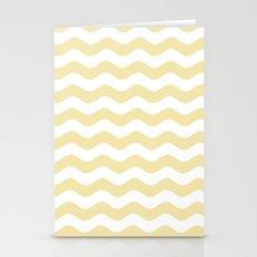 Wavy Stripes (Vanilla/White) Stationery Cards