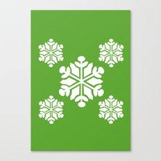 Green Snowflakes Canvas Print