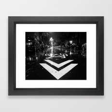 The Right Way Framed Art Print