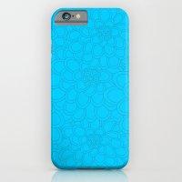 Flowers tone on tone.  iPhone 6 Slim Case