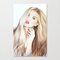 rosie huntington whiteley  Canvas Print