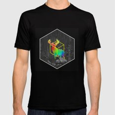 Catch The Reinbow Black Mens Fitted Tee SMALL