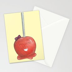 Blushing Toffee Apple - Yellow Stationery Cards