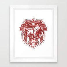 Buffalo Explosives Framed Art Print