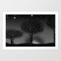 THREE TREES - 030 Art Print