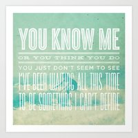 The Format - The First Single (You Know Me) Art Print