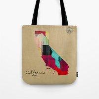 California State Map Tote Bag