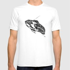 Turtle Mens Fitted Tee White SMALL