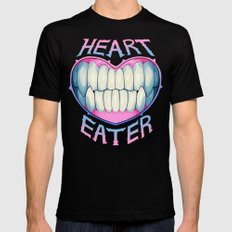 heart eater SMALL Mens Fitted Tee Black
