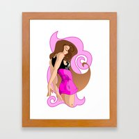 Just a Girl in Pink Framed Art Print