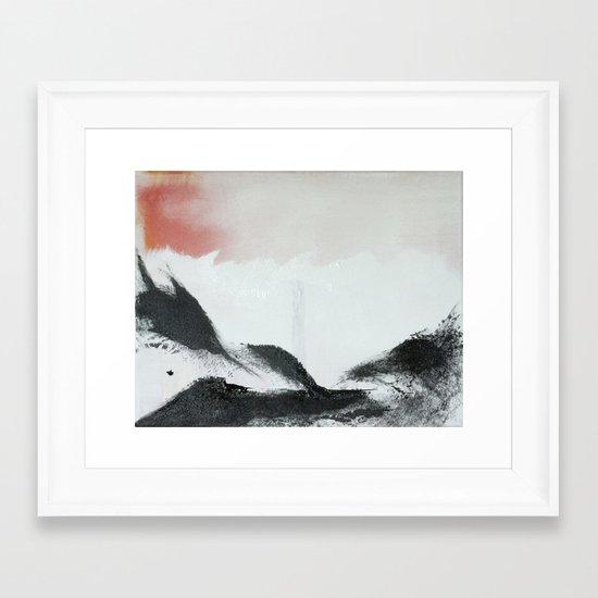 Morning's Snow Framed Art Print