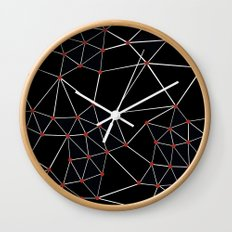 Seg with Red Spots Wall Clock