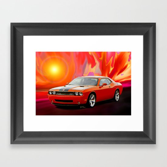Challenger Srt Framed Art Print By Jt Digital Art Society6