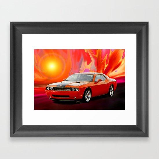 Challenger Srt Framed Art Print By Jt Digital Art Society6